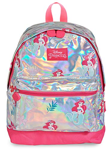 Disney Princess Girls Holographic Backpack Little Mermaid Ariel School Bag for Girl
