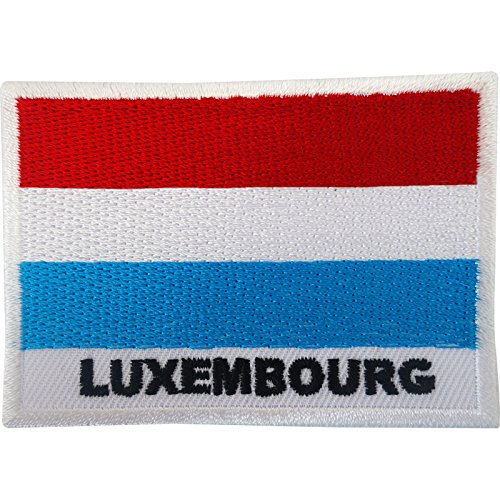 Aufnäher mit Luxemburg-Flagge, zum Aufbügeln oder Aufnähen, bestickt, Motiv
