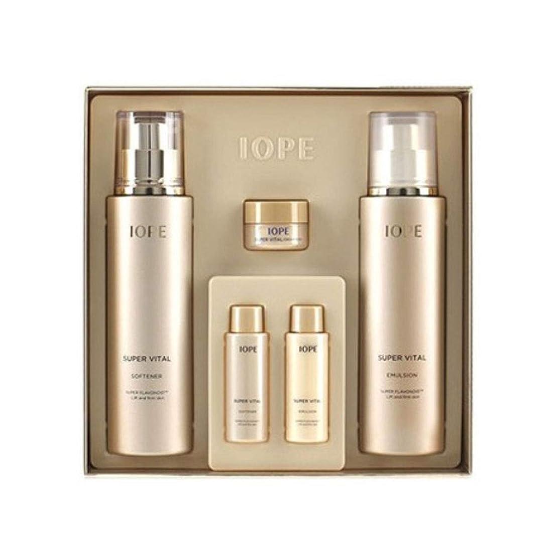 確実宙返りバナーアイオペスーパーバイタル基礎化粧品ソフナーエマルジョンセット韓国コスメ、IOPE Super Vital Softener Emulsion Set Korean Cosmetics [並行輸入品]