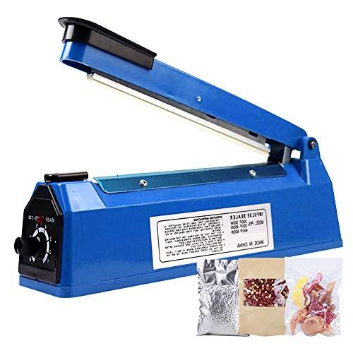 Macchina termosaldatrice a impulsi per confezionamento di sacchetti termosaldati, sigillatura manuale di sacchetti di plastica per sigillatura di alimenti, termosaldatrice / confezionatrice (200 mm)