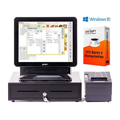 Pack GEON para Hosteleria TPV táctil Completo + cajón + Impresora 80mm + Windows 10 + Software Hosteleria restaurantes, cafeterias, heladerias.