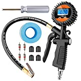 Yome Digital Tire Pressure Gauge 100 PSI Air Chuck Inflator and...