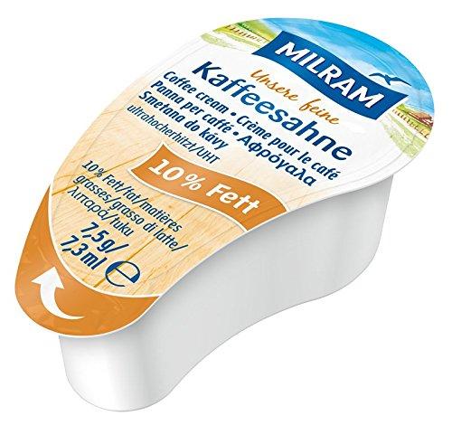 MILRAM Kaffeesahne 10% Portionen lose, 1er Pack (1 x 1.8 kg)