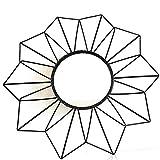 AUDACE DECO Ensemble de 3 miroirs Graphique Scandinave D25cm Coloris Noir en métal