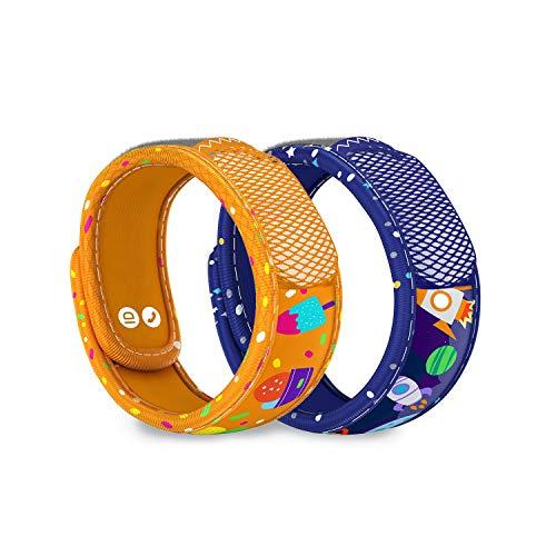 Para'Kito Mosquito Repellent Bonus Pack - 2 Kids Wristbands | 2 Refills (Ice Cream + Space)