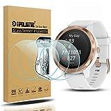 Diruite 4-Pack für Garmin Vivoactive 3 Panzerglas Schutzfolie, HD Glas Bildschirmschutzfolie für Garmin Vivoavtve 3 Intelligente Uhr [Anti-Kratzen] [Anti-Öl] [Keine-Blasenfrei]