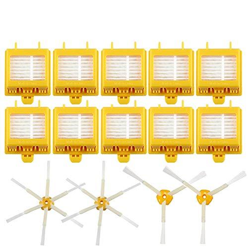 WDGNY Accesorios de limpieza 14pcs cepillo lateral cerdas flexible batidor cepillo Hepa filtro para IRobot para Roomba 700 760 770 780 Serie aspiradoras piezas kit de cepillo