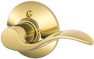 Schlage F170ACC605RH F170 ACC 605 RH Accent Right Hand Dummy Lever, Bright Brass