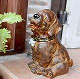 YXYOL Retro Netter Hund Statue, Garten Hund Skulptur Pet Modell Individualität Dekorative, Hunde Dekoration Pet Shop Dekorative Garten-Dekoration Pastoral Fertigkeit-Dekorationen