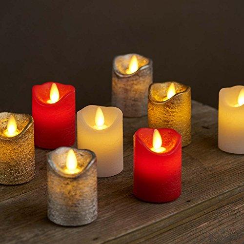 Sara LED Mini Candles, White, 2pcs Ø5 x H6.5cm