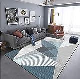 LHYJH Diseñador de hogar Dormitorio Verde Sala de Estar hogar mesita de Noche Alfombra de Mesa fácil de Limpiar y Resistente a Las Manchas Alfombra Antideslizante esponjosa, 80 × 200 cm