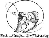 Eat, Sleep, Go Fishing Aufkleber Sticker