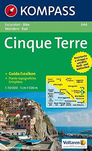 Cinque Terre: Wanderkarte mit Kurzführer und Radrouten. Dt. /Ital. 1:50000 (Carte de Randon, Band 644)