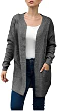 Zlolia Women's Solid Color Knit Twist Cardigan Long Sleeve Midi Sweater Coat Ladies' Autumn&Winter Loose Casual Robes
