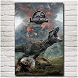Jurassic World Fallen Kingdom Poster Print on Silk Fabric Painting Movie Wall Art Pictures For Living Room Cuadros Decoration-40x60cm Sin marco