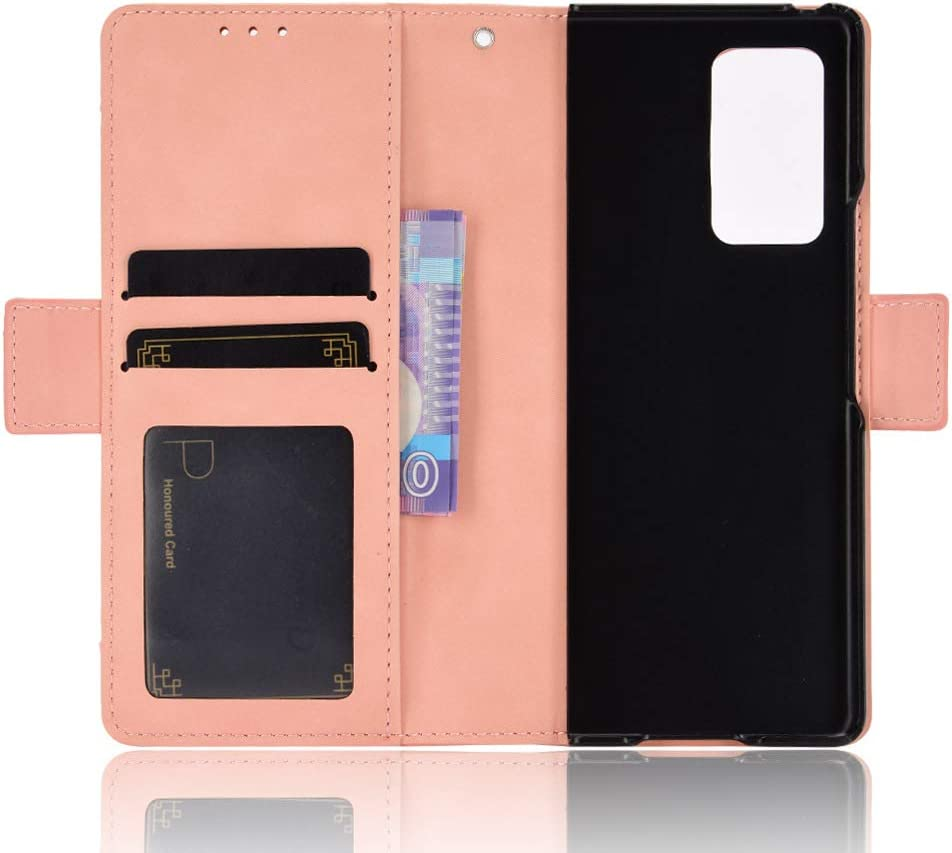 Foldable Hybrid Leather Shockproof Cover Black Hackers Phone Case Compatible with Samsung Galaxy Z Fold 2 5G 2020