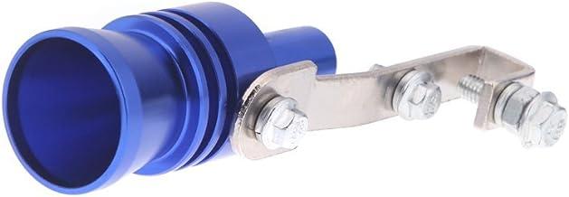 KKmoon Turbo Ton Whistle Tubo de escape silencioso de Blow Off Válvula Aluminio tamaño XL Azul