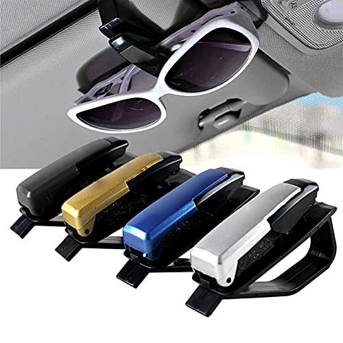 LINGX XIANS Gafas de Sol Gafas Tarjeta de Visera Solar Clip Clip Accesorio de Coche Sun Coche Visor Sombra for el Parabrisas (Color : White)