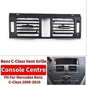 Mmhot Consola Central LHD RHD Coche de la CA Frente de Izquierda/Derecha del acondicionador de Aire de la Rejilla del W204 Cubierta for el Mercedes Benz Clase C C180 C200 C300