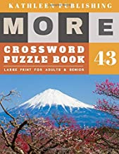 Crossword Puzzles Large Print: crosswords for beginners | More Full Page Crosswords to Challenge Your Brain (Find a Word for Adults & Seniors) | Fuji Mountain Design (crossword books quick)