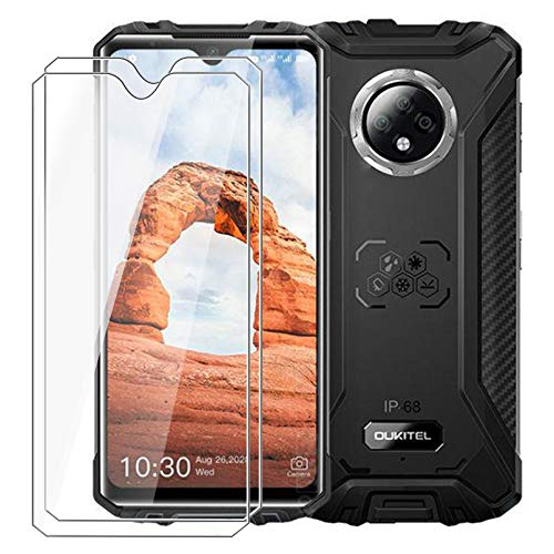 """[2-Pack] for Oukitel WP8 Pro Screen Protector,HHUAN 9 Hardness Anti-Scratch Tempered Glass Screen Protector,No Bubbles Tempered Glass Protective Film for Oukitel WP8 Pro (6.49"""")"""