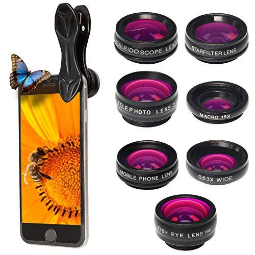 PIXART PRO Handy Objektiv-Kit – Set aus 7 Linsen - Objektive und Filter für die Smartphone-Kamera