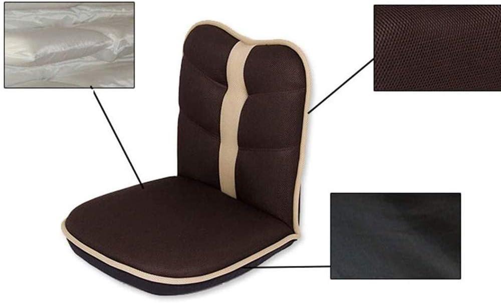 YUMUO Réglable Chaise Pliante De Plancher,Léger Respirant Fauteuil Inclinable De Salon Couch Paresseux avec Backrest pour Reading Se Détendre Meubles De Salon C B