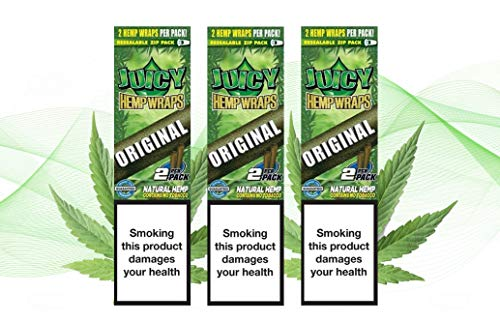 Juicy Jay's Wrap 3 Pack – 2 Wraps in Each Pack – 6 Wraps Total (Original (Natural))