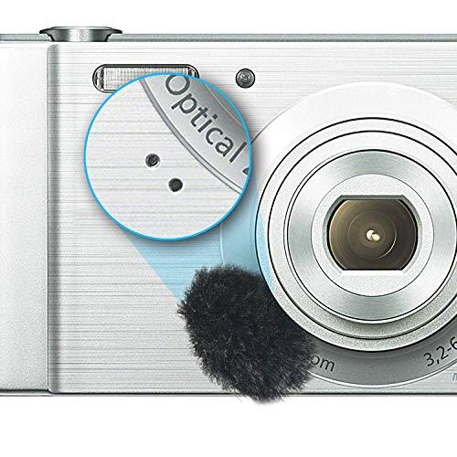 Microfono per fotocamera, 8 pezzi Pellicola antivento in pelliccia antivento per DSLR Microfono incorporato Filtro antivento per esterni by YOUSHARES