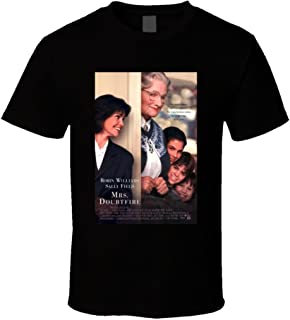 Mrs.Doubtfire Cool 90's Comedy Vintage Classic Movie Poster Fan T Shirt