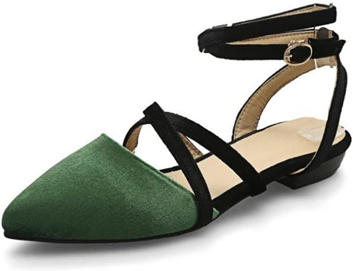 Women's Pointy Toe Boat Ballet shoes Faux Leather Slip on Low Flats