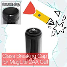 Stealthy Glass Breaking End/Tail Cap for Mini MagLite 2AA Cell Torch/Flashlight