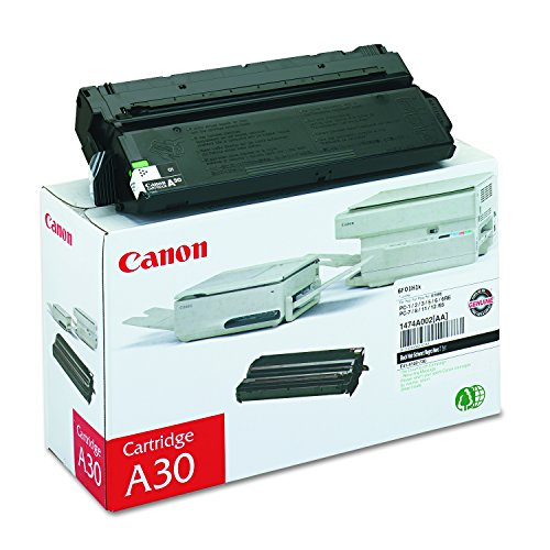 Canon Genuine Toner, Cartridge A30 Black (1474A002), 1 Pack, for Canon Personal Copier PC 1, 2(L)(LX), 3(II), 5(II)(L)(LII), 6(RE), 7, 8, 11(RE), 12, 65