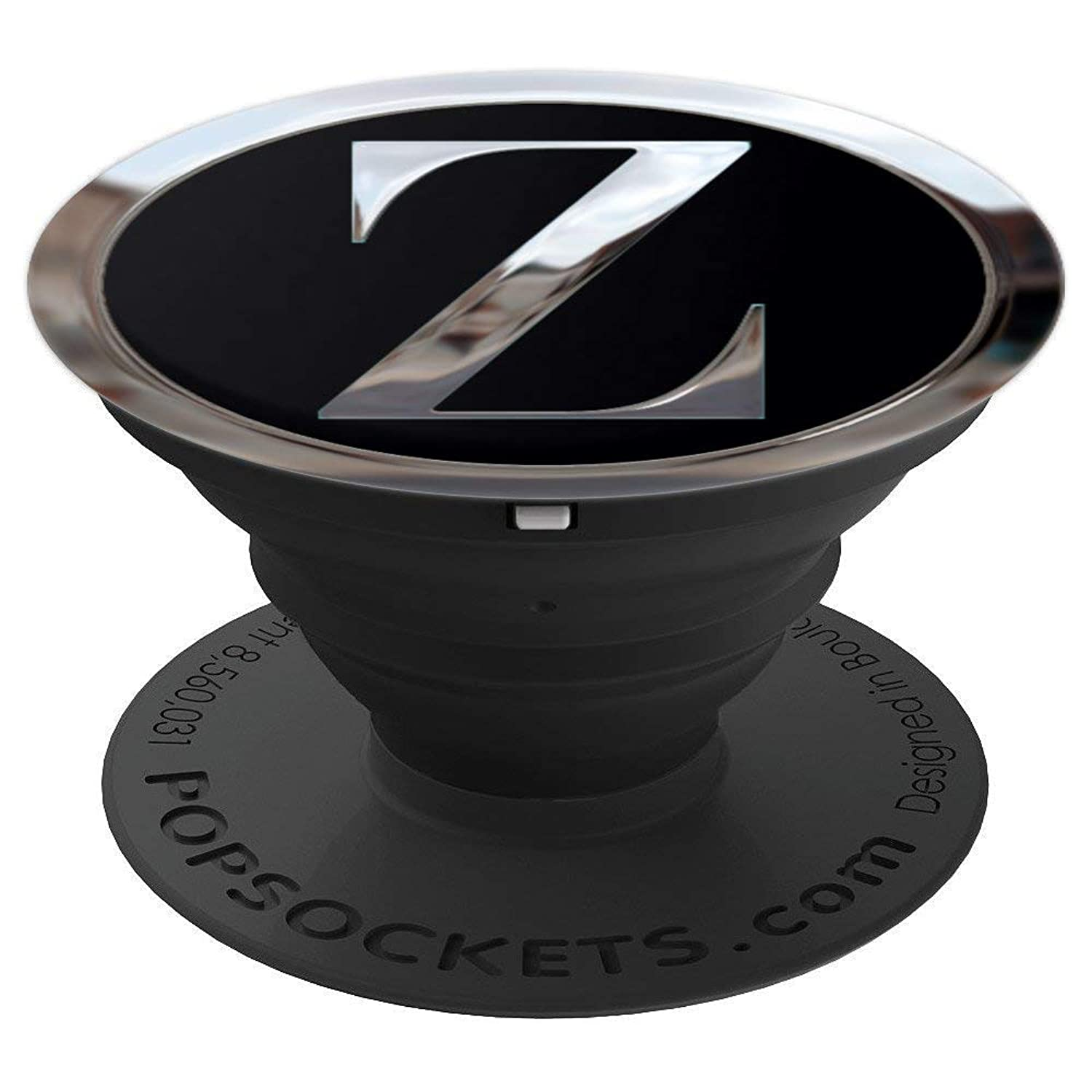 Chrome Look Letter Z Monogram Gift - PopSockets Grip and Stand for Phones and Tablets