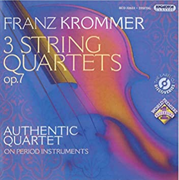 Krommer, F.: 3 String Quartets, Op. 7