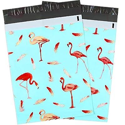 Ohuhu 100-Pack Flamingo Designer Shipping Envelopes Mailer Bag