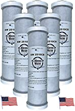 Carbon Block Water Filter, Chlorine Chemical and Sediment Removal, KleenWater Brand Under Sink Replacement Cartridge, Set of 6