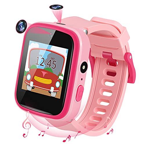 Smartwatch Kinder,Musik Kinder Smartwatch mit 2 Kameras,Uhr Kinder mit 9 Spiel Rechner Schrittzähler Touchscreen Taschenlampe,Kids Smart Watch für 3-15 Jahre alt Jungen Mädchen Geburtstags Geschenke