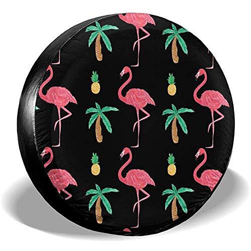 Niet te gebruiken flamingo Pineapple Coco Wheel banden diameter regenbescherming zonwering voor SUV RV verschillende voertuigen 15in/70~75cm 4 X 100 M