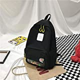 Ancient Sense Girl Bag Versión Coreana De La Marca Marea Wild Campus Junior High School Students Mochila De Lona 1 30 * 12 * 40Cm