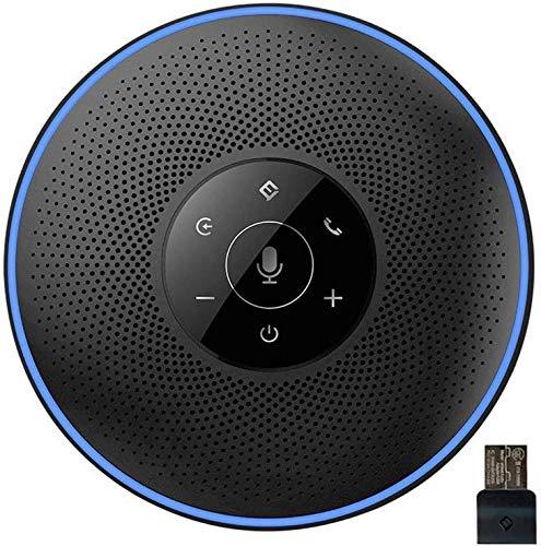 eMeet Bluetooth Konferenzlautsprecher - USB Freisprecheinrichtung für 5-8 Personen Konferenz, mit Dongle, 4 AI-Mikrofon 360º Spracherkennung, 8M Weitfeld, für Zoom, Skype, VoIP-Kommunikation PC usw.