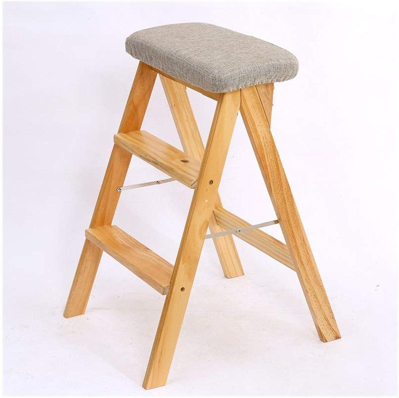 Ladder Chair, Folding Kitchen Steps Wood Folding Step Stool ...