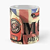 Amnautical Car Vehicle Mgc MG Rover Vintage British MGB Cadeau Tasse à café 11 oz
