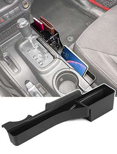 Savadicar JK GearTray Gear Shift Console Side Storage Box Passenger Side Organizer Tray for 2011-2018 Jeep Wrangler JK JKU, Interior Accessories, Black