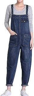 Vaqueros Mujer Petos de Pantalones Largos Sueltos Jeans Monos de Mezclilla