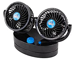 ALL SEASON FAN: This car accessory is a great pick for hot summers, humid rainy season, and dry autumn. This cooling fan offers noiseless functions to provide a strong blow of wind and cools down the interiors of your van or motorhome. IMPROVED AIR C...