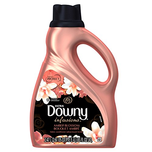 Ultra Downy Infusions Amber Blossom Liquid Fabric Softener and Conditioner, 83 FL Oz