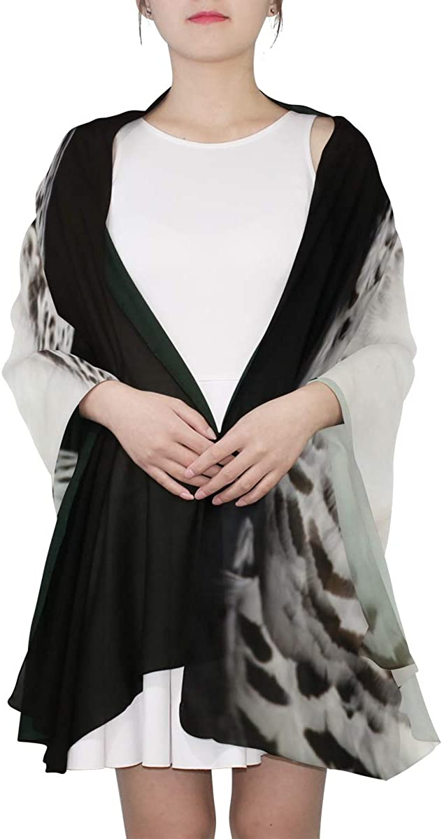 Rare White Owl Unique Fashion Scarf For Women Lightweight Fashion Fall Winter Print Scarves Shawl Wraps Gifts For Early Spring