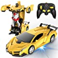 Desuccus Remote Control Car, Transform Robot RC Car for Kids, 2.4Ghz 1:18 Scale Model Racing Car with One-Button Deformation, 360°Drifting, Transforming Robot Car Toy Gift for Boys and Girls by Desuccus