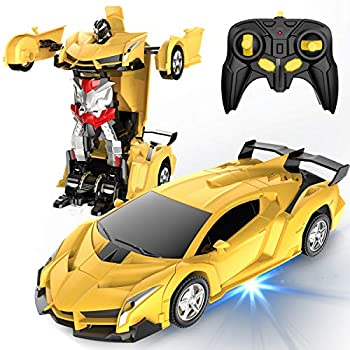 Desuccus Remote Control Car Transform Robot RC Car for Kids 2.4Ghz 1 18 Scale Model Racing Car with One-Button Deformation 360°Drifting Transforming Robot Car Toy Gift for Boys and Girls